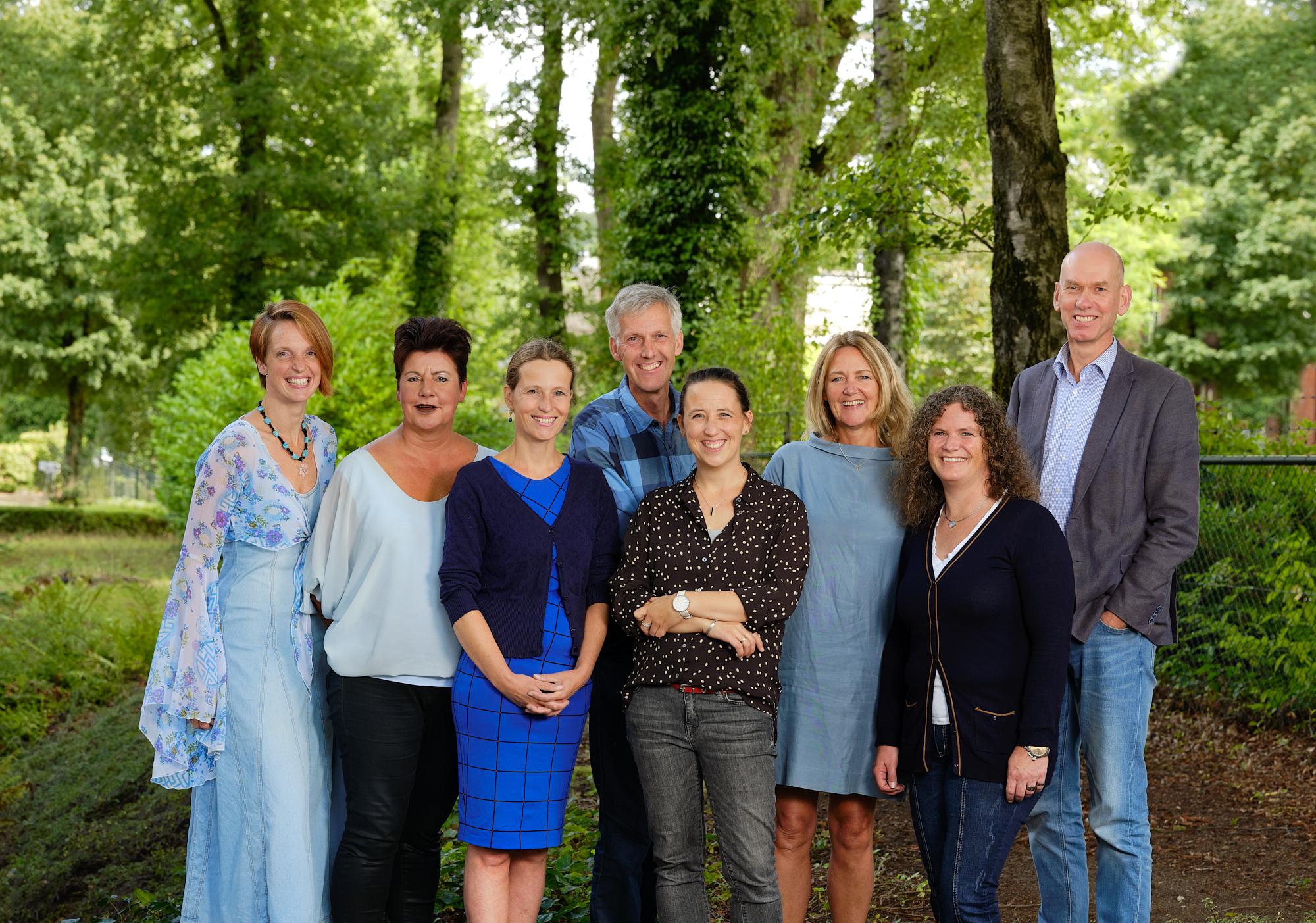 Het team van huisartsenpraktijk Moen & Warnier